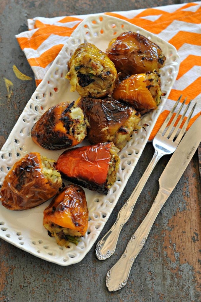 Indian Style Stuffed Bell Peppers