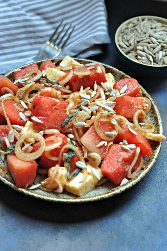 Watermelon Pickled Onion Salad