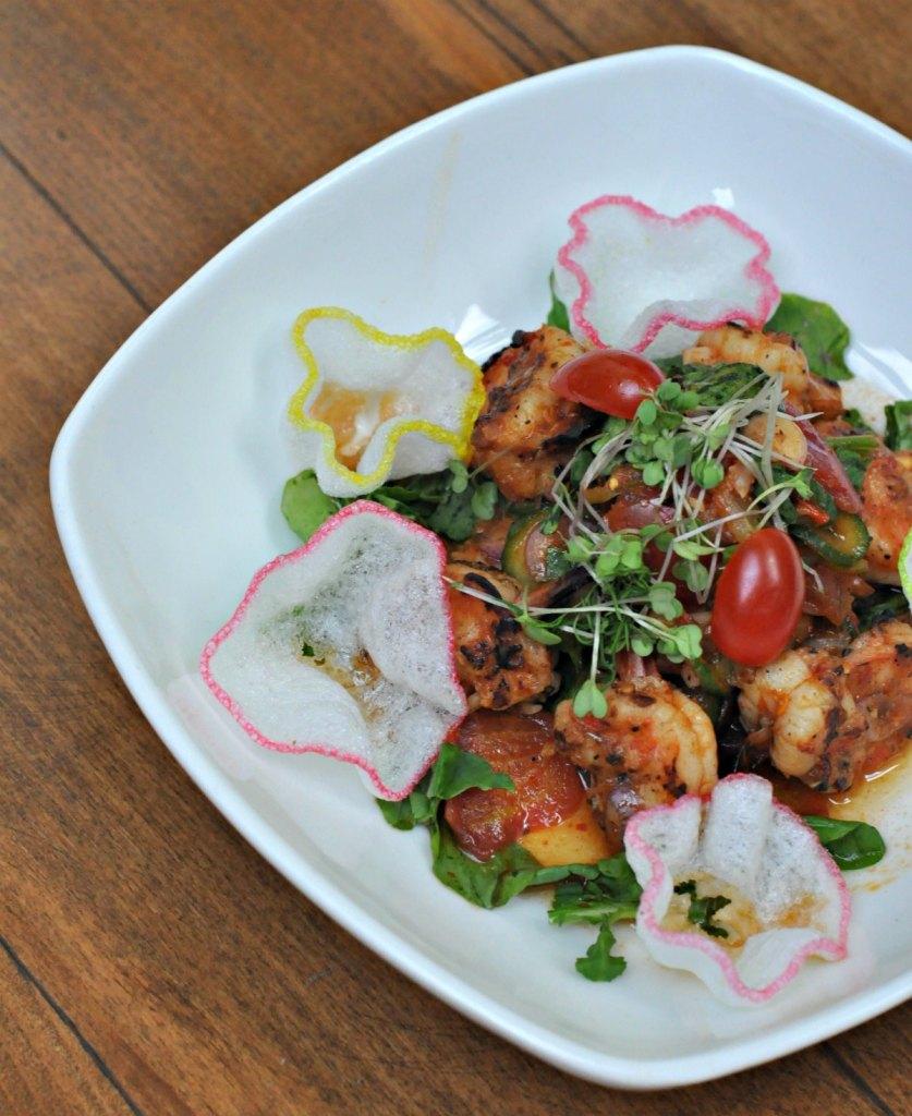 Carambola and Prawn Salad