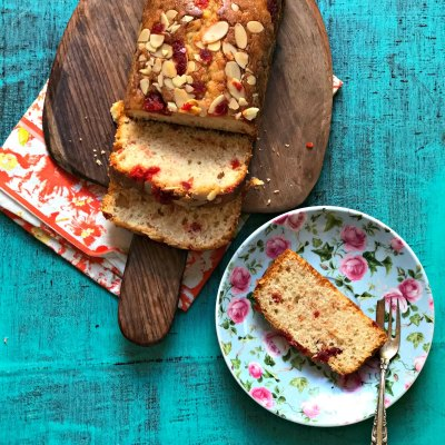 Old Fashioned Cherry And Almond Tea Cake