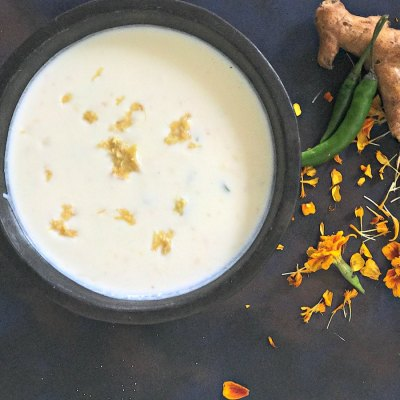 Onam Recipes : Inji Thayir | Ginger & Green Chilli Raita