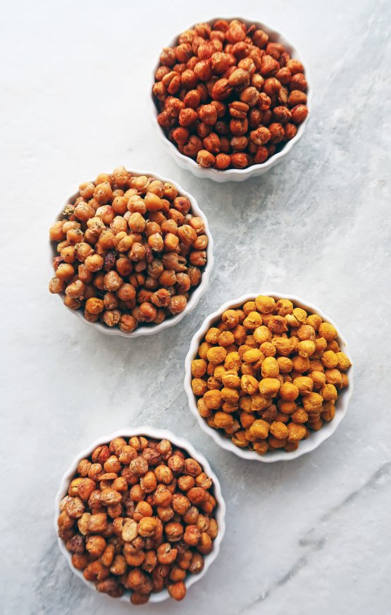 Four way roasted chickpeas