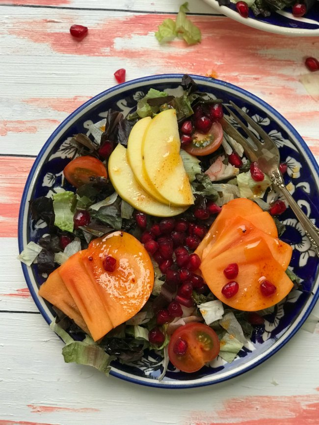 Persimmon Apple Salad