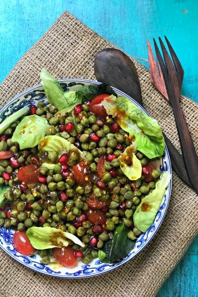 Cholia & Anar Salad | Fresh Garbanzo beans Salad