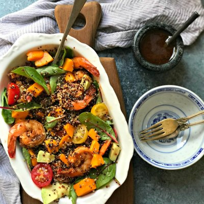 Mango Shrimp Salad with Quinoa and Avocado