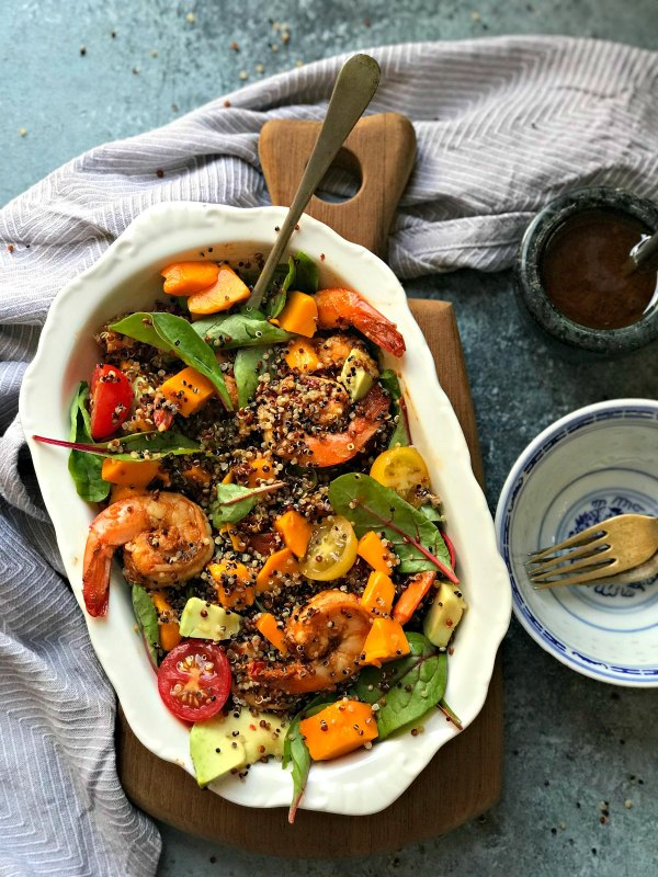 Quinoa Shrimp Avocado salad