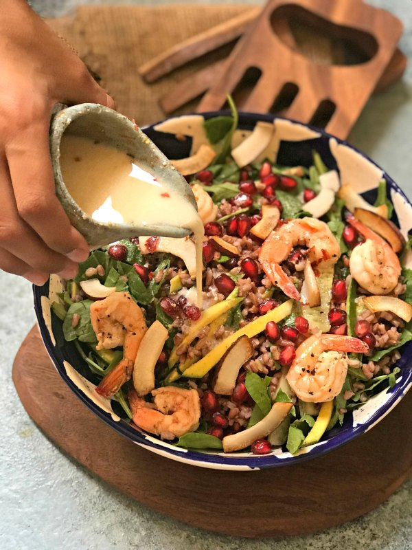 Shrimp Red Rice Salad