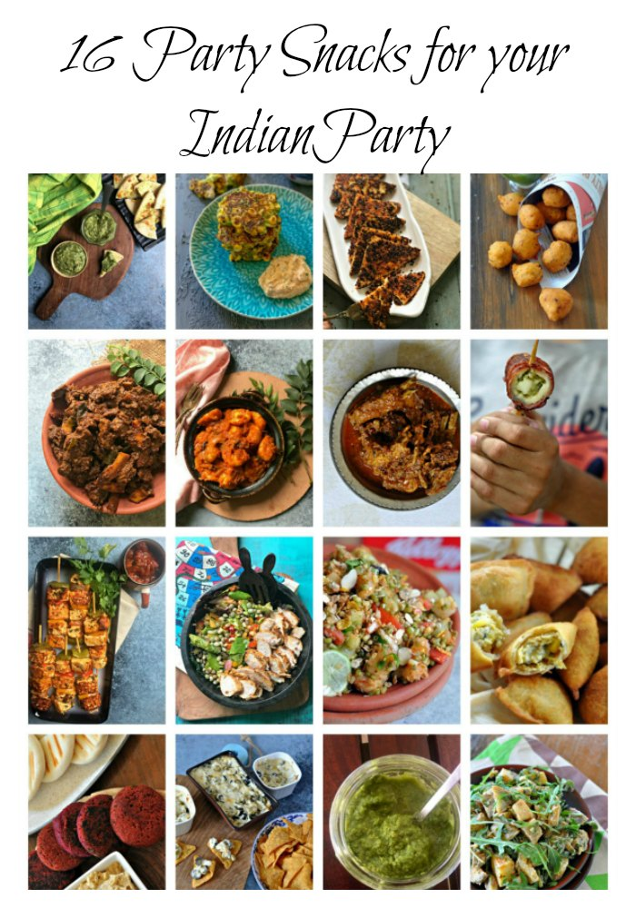 A list of BESTParty Snacks for your Diwali Party! From Dips to salads to cocktail bites, If you are hosting this year, this is the only post you will need.
