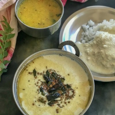 Araitchukalakki – A No Cook Curd & Coconut Curry