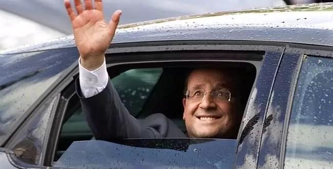 Rayo alcanza el avión del presidente francés Francois Hollande