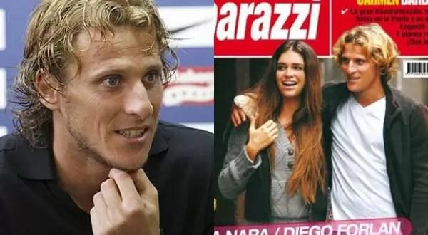 Diego Forlán habla del encuentro con Zaira Nara