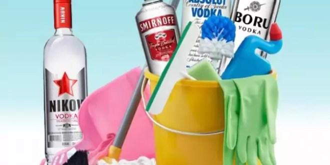 Utilidad del vodka en la limpieza de tu hogar