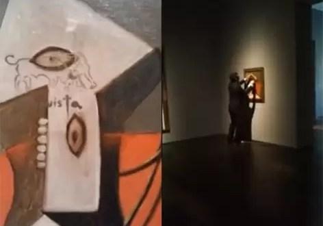 Destrozan obra de Picasso y lo registran en video