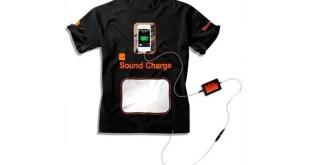 Diseñan un acamiseta que recarga celulares