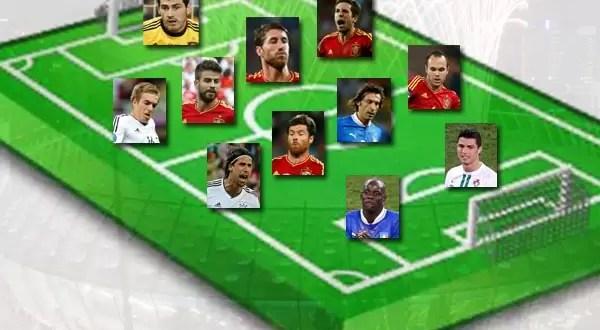 Este es el equipo ideal de la Eurocopa 2012