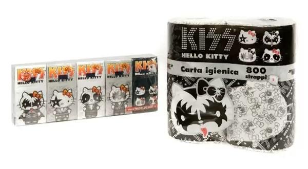 Papel higiénico de Kiss con el rostro de Hello Kitty