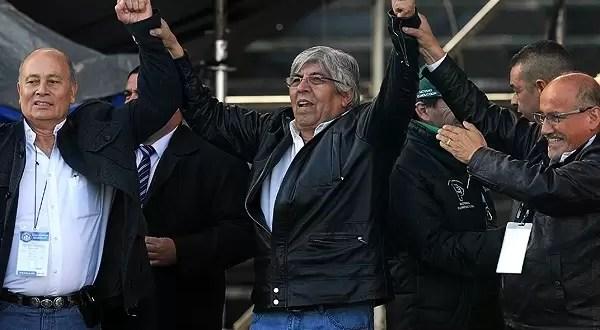 Hugo Moyano reelecto dispara al Gobierno