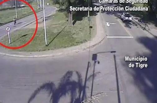 Video: Así escapó el autor del brutal triple crimen de Benavídez