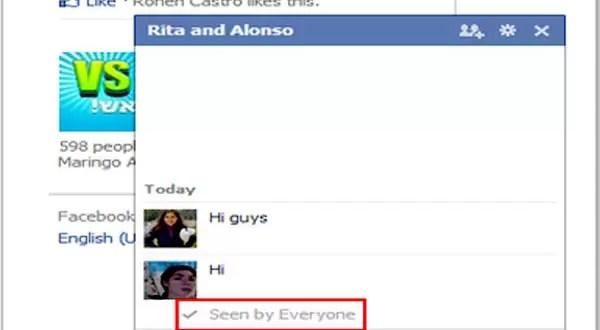 Cómo deshabilitar el 'Visto' en el chat de Facebook