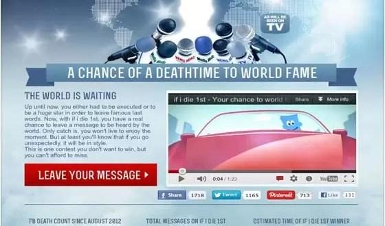 Un concurso por Facebook donde gana el que muere