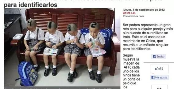 Padres cortan el pelo a sus hijos como números - Foto