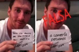 Polémica foto de Lionel Messi contra Perú