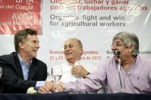 ¿Mauricio Macri y Hugo Moyano juntos en 2015?