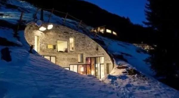Fotos: Increíble casa contruída dentro de una montaña