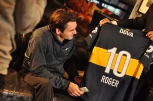 Video: Roger Federer con la camiseta de Boca Juniors