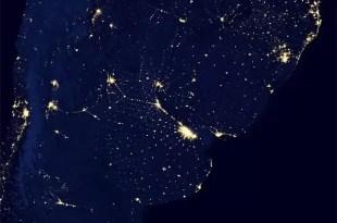 Cómo se ve tu país por las noches desde el espacio