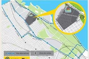 Calles cortadas por el recital de Madonna en River Plate