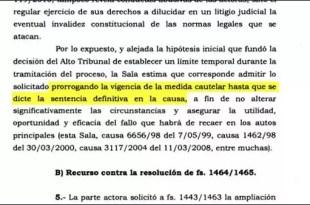 Extienden la medida cautelar presentada por el Grupo Clarín
