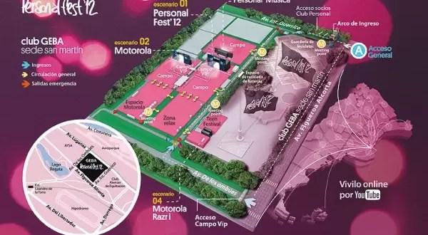 Calendario y mapa del Personal Fest 2012