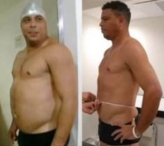 Fotos: Increíble transformacion de Ronaldo al terminar la dieta