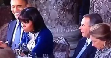 Video: el gesto de Michelle Obama furor en internet