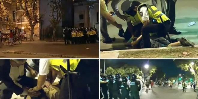 Represión policial en Parque Centenario: hay varios detenidos