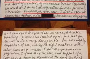 Conmovedora carta de un médico furor en internet
