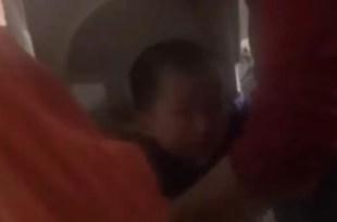 Video: dramático rescate de una niña atorada en un lavarropas