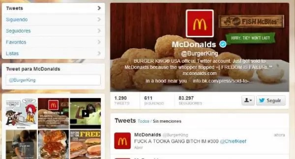 El inesperado Twitter de Burger King