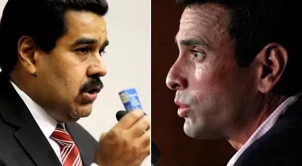 Maduro y Capriles se inscriben para competir en las elecciones de Venezuela