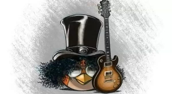 Fotos y video: Slash en 'Angry Birds'