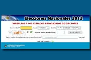 ¿DÓNDE ME TOCA VOTAR? CONSULTE EL PADRÓN ELECTORAL