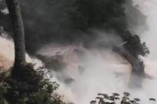 Video impactante de las crecidas de las Cataratas del Iguazú