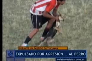 Video: Expulsan a futbolista por maltratar a un perro en la cancha