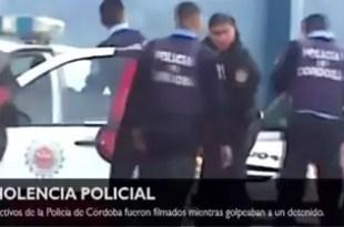 Video: feroz golpiza de policías de Córdoba a detenido