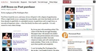 Fundador de Amazon adquiere The Washington Post