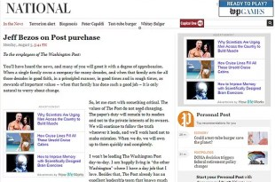 Fundador de Amazon adquiere The Washington Post