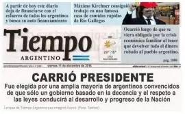 Carrió desafió a La Cámpora y también tiene tapa como presidenta