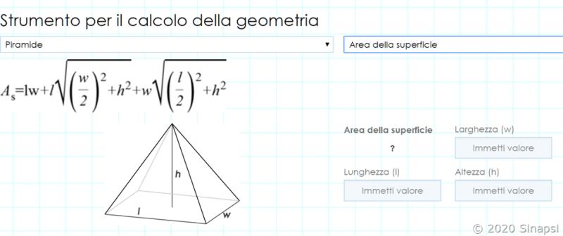 Strumento per i calcoli geometrici