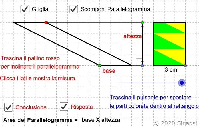 Area del parallelogramma